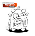 funny cute crazy ice cream monster vector image