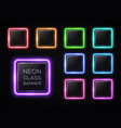glossy plastic texture banner set colorful square vector image vector image