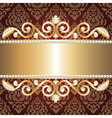 Gold jewelry frame and pearls vector | Price: 1 Credit (USD $1)