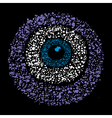 Grunge colourful amulet symbol - evil eye vector image