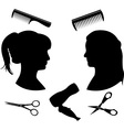 Hairdressing 2 vector image vector image