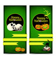 happy halloween vertical banners vector image vector image