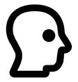 Head Profile Stroke Icon vector image vector image