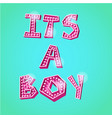 its a boy poster vector image vector image