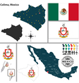 Map of Colima vector image vector image