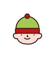 merry christmas cute helper decoration vector image vector image