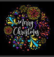 merry christmas winter holiday celebration vector image