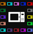 microwave icon sign Lots of colorful symbols for vector image vector image