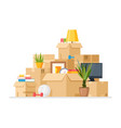 moving to new house cartoon vector image vector image