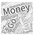 paper money collecting Word Cloud Concept vector image vector image