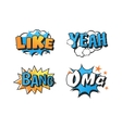 Popart comic speech bubble vector image vector image