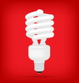 popular compact fluorescent lamps white energy sav vector image