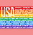 poster of rainbow united states of america flag vector image vector image