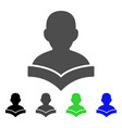 reader student flat icon vector image vector image