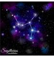 sagittarius constellation with triangular vector image vector image