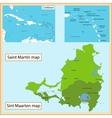 Saint Martin and Sint Maarten vector image