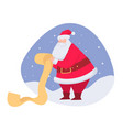 santa claus reading list wishes for christmas vector image