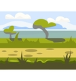 Seamless cartoon nature landscape unending vector image vector image