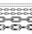 seamless chain isolated on white vector image vector image