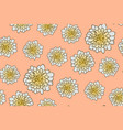 seamless floral pattern with beige aster flowers vector image vector image