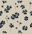 seamless pattern of clover leaves hand vector image