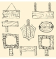 Set of wooden signposts vector image vector image