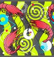 shrimps seamless pattern background shrimps vector image