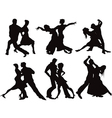 Silhouettes of the ballroom dancers vector image vector image