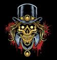skull head mascot logo design vector image