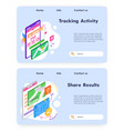 sport activity tracking and running app fitness vector image