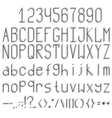 Standing volume font vector image