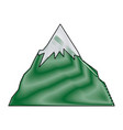 success icon mountain peak as aim achievement or vector image