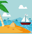 summer and sailboat vector image
