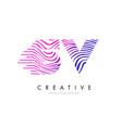 sv s v zebra lines letter logo design