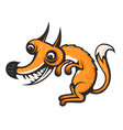 totally crazy fox cartoon image eps 10 vector image vector image