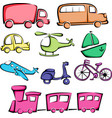 transportation vehicles icons vector image