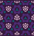 trendy purple and green ornamental geo damask vector image
