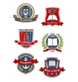 University college and academy emblems vector image