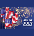 usa independence day big banner with waving vector image vector image