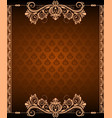 vintage border background and corner vector image vector image