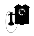 Vintage rotary telephone with a mouthpiece vector image vector image