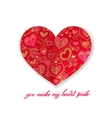 you make my heart smile calligraphy design with vector image vector image