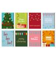 christmas posters set winter card xmas holiday new vector image