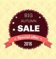 seasonal big autumn sale business background vector image