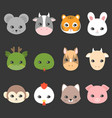 cute cartoon chinese zodiac icon vector image