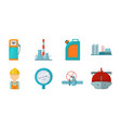 oil industry icons in set collection for design vector image