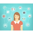 Modern Business Woman Conceptual Infographics vector image