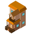 3d design for brown house vector image vector image