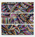abstract ethnic ornamental stripes set 3 vector image
