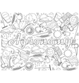 Agronomy coloring book vector image vector image